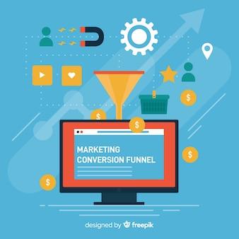 Marketing funnel background
