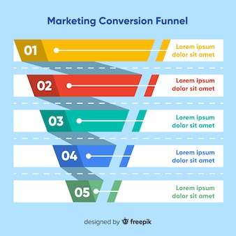 Marketing funnel background