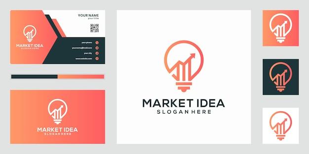 マーケティングのアイデアのロゴ、アイデアのロゴのテンプレート