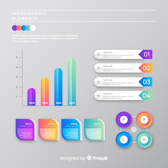 Marketing infographic collection template