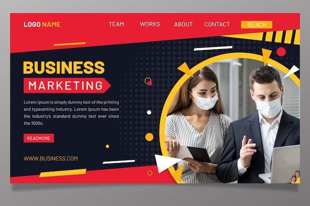 Шаблон маркетинговой целевой страницы