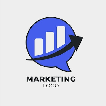 Marketing logo template with arrow