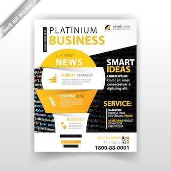 Marketing magazine template