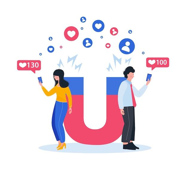 Marketing magnet engaging followers