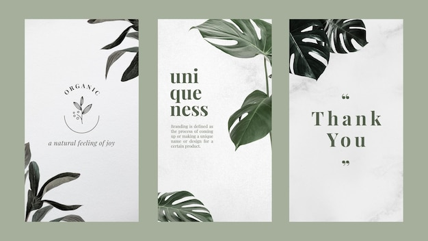 Marketing minimalist banner design template set