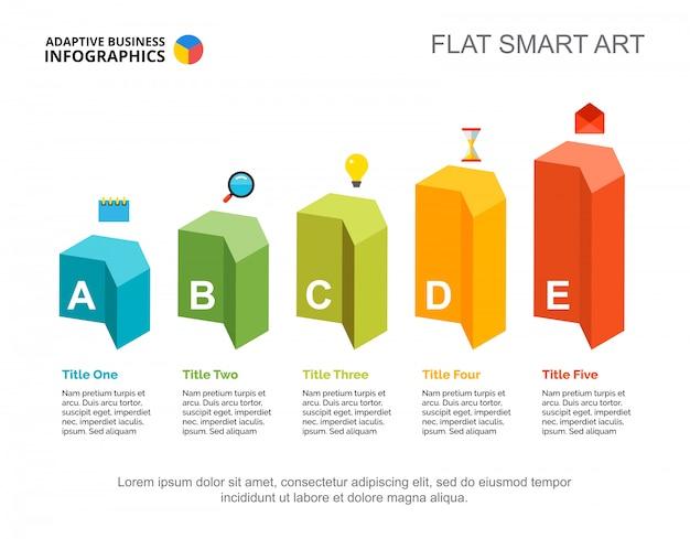 Modello di diapositiva piano di marketing. grafico. concept creativo per infografica, report.