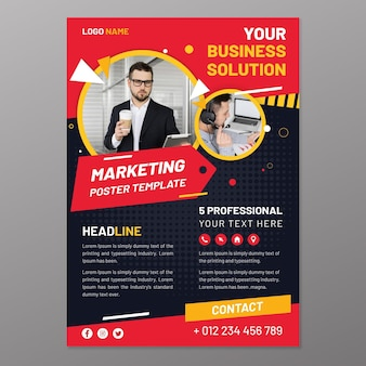 Marketing poster template