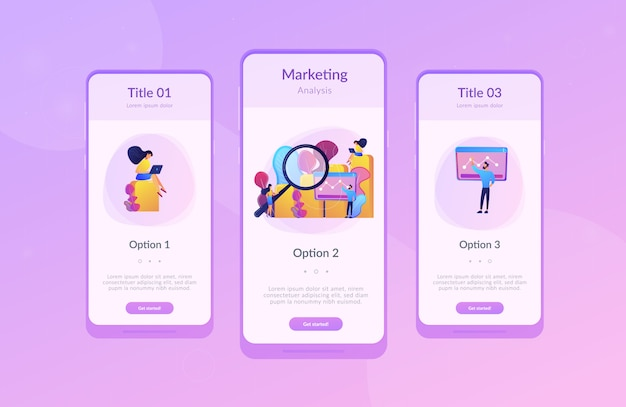 Marketing research app interface template