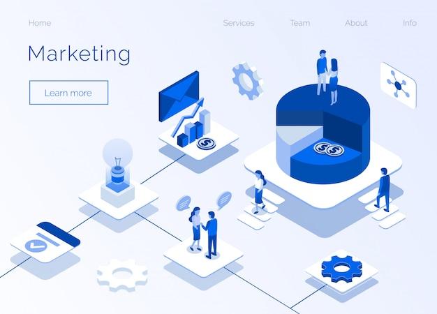 마케팅 서비스 비즈니스 아이소 메트릭 홈페이지