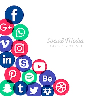 Marketing social media background