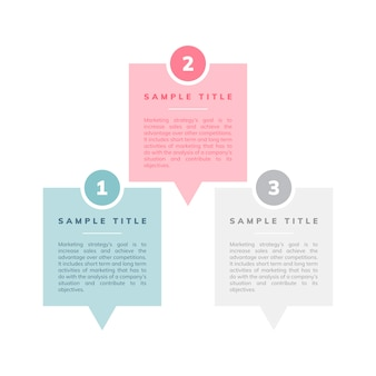 Marketing strategy and goals vector