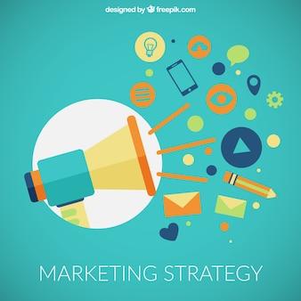 Icone strategia di marketing
