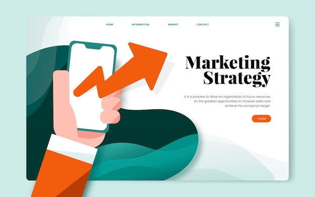 Marketing strategy informational website graphic