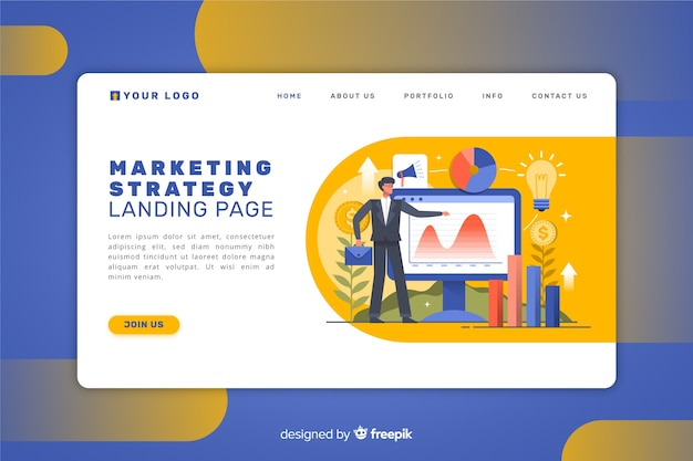 Marketing strategy landing page