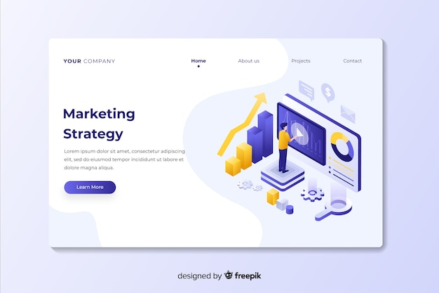 Marketing strategy professional landing page
