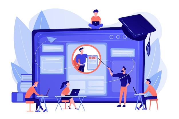 Gli studenti di marketing creano l'identità aziendale
