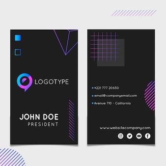 Marketing vertical business card template
