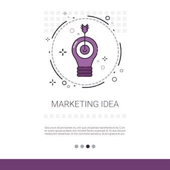 Marketing Vision Business Idea Banner