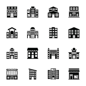 Marketplace glyph vector icons