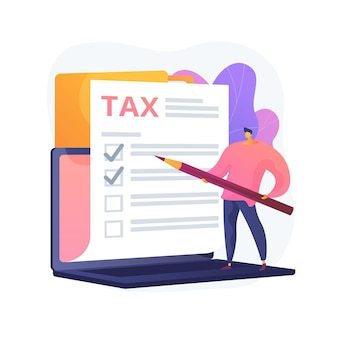 Marking checkbox on document. tax management. billing obligation. giving permission. approve decision, check box, signature stroke. warranty list. vector isolated concept metaphor illustration.