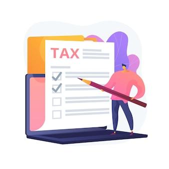 ドキュメントのチェックボックスをマークします。税務管理。請求義務。許可を与える。決定、チェックボックス、署名ストロークを承認します。保証リスト。ベクトル分離された概念の比喩の図。