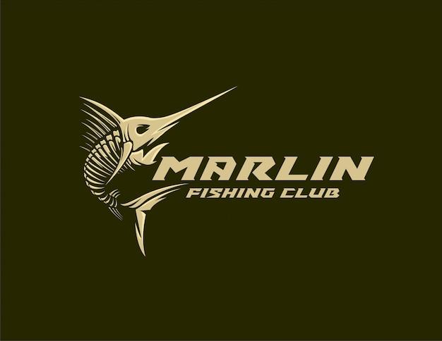 Marlin fishing club logo