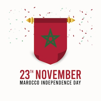 Marocco independence day design template