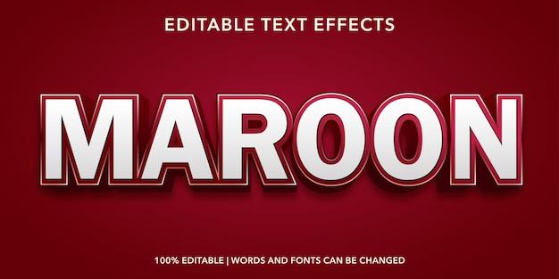 Бордовый редактируемый текстовый эффект
