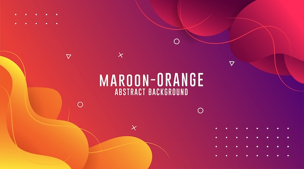 Maroon - orange gradient abstract backgrounds, fluid abstract backgrouds