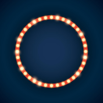 Marquee lights in circle shape illustration