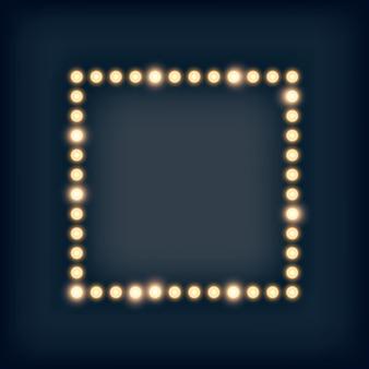 Огни шатра в квадратной рамке