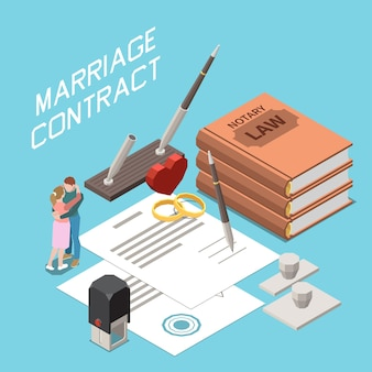 結婚契約の等角図