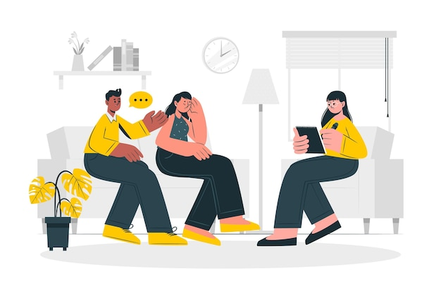 Marriage counseling concept illustration