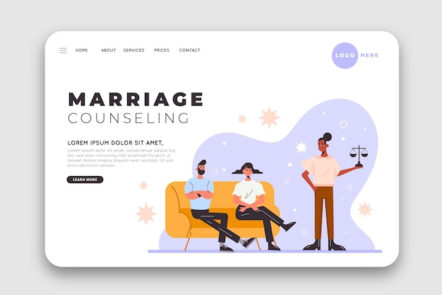 Marriage counseling landing page