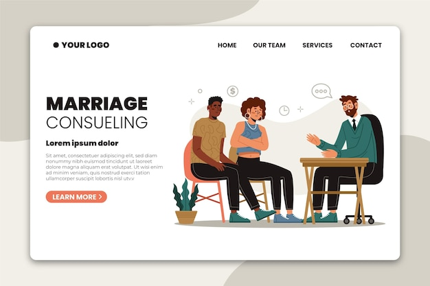 Marriage counseling - landing page