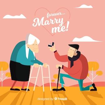 결혼 제안과 사랑 개념