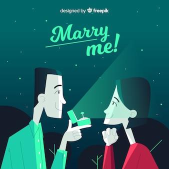 결혼 제안 개념