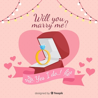 Marriage proposal concept