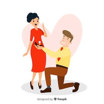 Concetto di proposta di matrimonio