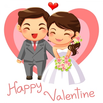 Married couple character cartoon vector