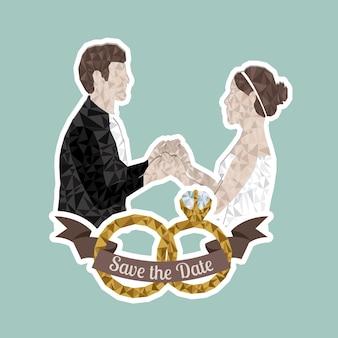 결혼 한 디자인