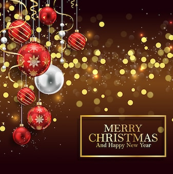Marry Christmas and Happy New Year background