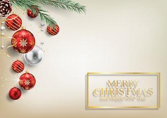 クリスマスと新年の背景を結婚