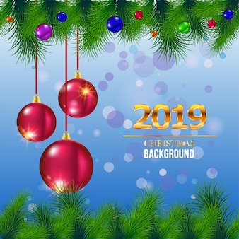 Marry christmas and new year greeting card