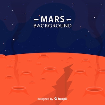 Mars background with crevice