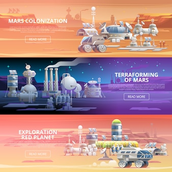 Mars colonization banners