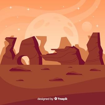 Mars desertic landscape background