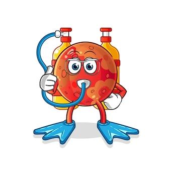 Mars divers mascot