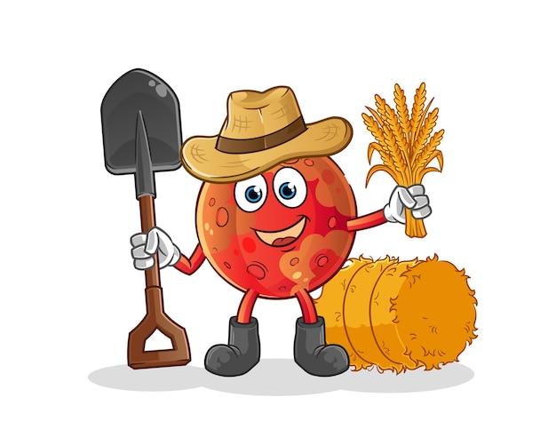 火星の農家のマスコット