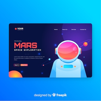 Mars Landing Page Template